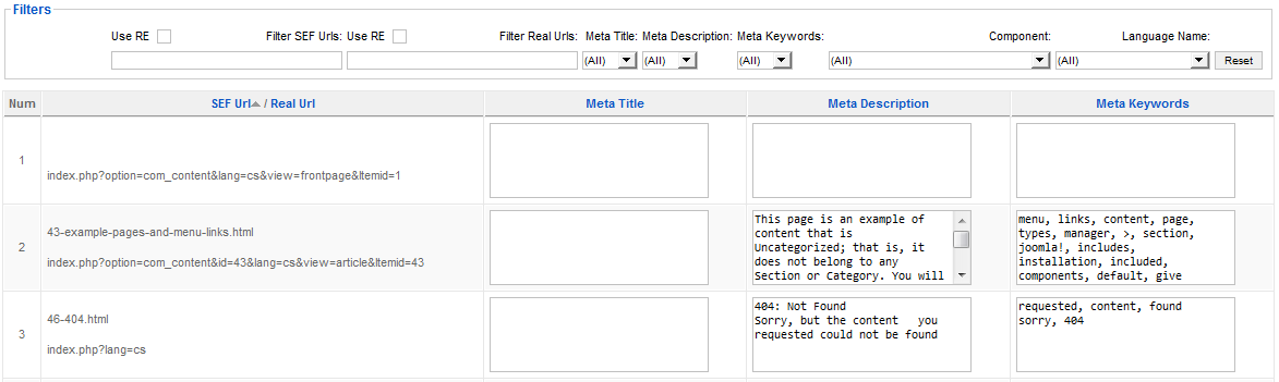 Meta Tags Manager