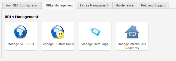 URLs Management tab