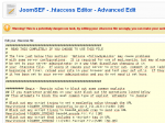 JoomSEF - .htaccess Editing
