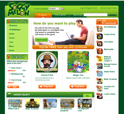 SoggyMelon - PC and Online games